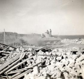 Demolition of the village of Gaynaeim, Canal Zone, c1952.