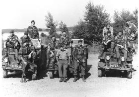 Lightweight Landrover Recce groups at Vogelsang