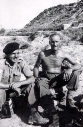 Martin Vokes and RSM Alcock. Cyprus, date unknown.