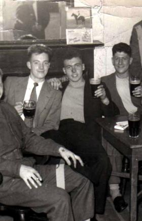 Members from 23 Parachute Field Ambulance in an Aldershot pub, c1959.