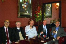 Former members of 23 Parachute Field Ambulance RAMC at reunion, Manchester, date unknown.
