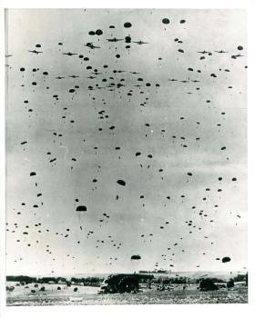6th Airborne Division dropping on Salisbury Plain in preparation for D-Day.