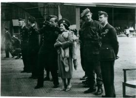 Visit to Ringway from Queen Elizabeth and King George VI.