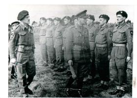 Inspection of Border Regiment by King George VI on Salisbury Plain, 1943.