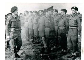 Inspection of Border Regiment by King George VI on Salisbury Plain, 1943.