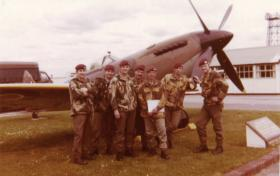 Men of 16 Independent Company relax at RAF Waddington