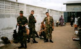 12 Platoon, D Coy, 2 PARA, Lungi Point, Sierra Leone, May 2000.