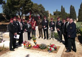 Dedication of the new headstone for Pte Alan Walton, 11:00 hrs Friday 12 April, Pembroke Cemetery, Malta.