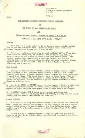 Weekly assessment of Operations, Borneo, May 1965