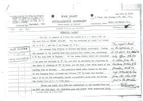 War Diary by Major Haynes RA, of 2nd Airlanding Anti-Tank Battery RA.