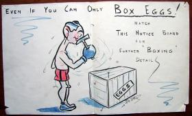 Boxing Poster, 1942.
