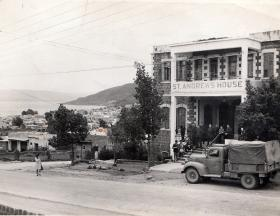 """""""Where we stayed during our tour. 17 April 1946"""""""