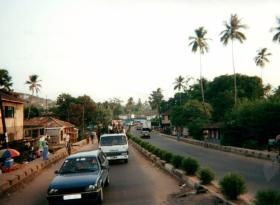 Patrolling Freetown, Sierra Leone, West Africa, May 2000.