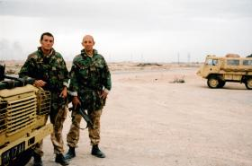 Two members of 1 Royal Irish Battle Group, Iraq, March 2003.