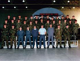 Parachute course cadre, No 1 Parachute Training School RAF Brize Norton, September 1999.