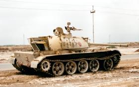 Soviet T-55 Tank, abandoned by Iraqi troops, 2003.