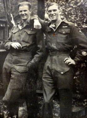 My father, Wilf and his brother, Jack, Clapham Junction, 1945