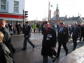 Wilfred Fordham on parade, November 2010