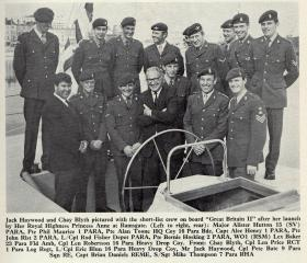 "Jack Haywood and Chay Blyth with PARA crew of ""Great Britain II"""