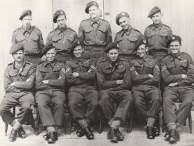 Group photo of men from the Glider Pilot Regiment, Shrewton, 1942