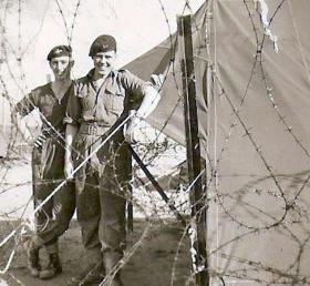 Privates Joe Woods and William McIlroy Coy Stores B Coy 3 PARA Cyprus 1956