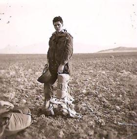 Pte William McIlroy after his last jump October 1956
