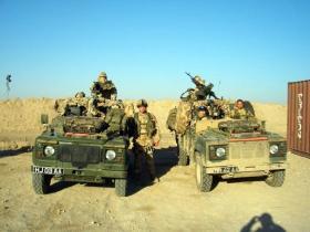2 PARA, Sniper and Patrol Platoon's WMIKs, Iraq, 2005.