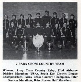 3 PARA Cross Country Team, 1983.