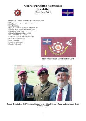 Guards Para Association Newsletter Winter 2013