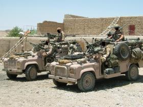 Pathfinder WMIKs, Musah Qaleh, Afghanistan, Op Herrick IV, 2006.