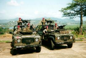 2 WMIKs attached to D Coy, 2 PARA Battle Group, Sierra Leone, May 2000.