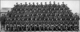 WOs' and Sgts' Mess, 2nd Battalion, The South Staffordshire Regiment, Carter Barracks, Bulford. April 1943.