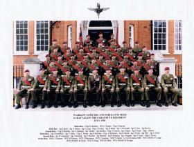 Warrant Officers and Sergeants Mess, 1 PARA, July 1996.