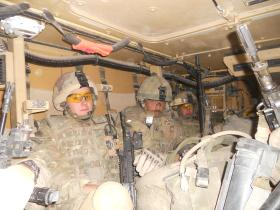 Interior View of Warthog, Afghanistan, 2010