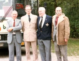 Veterans of the 10th Parachute Battalion, Arnhem Reunion, 1984.