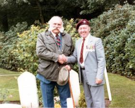 Jimmy (Whack-o) Edwards DFC and Peter Wyke, Arnhem, 1984