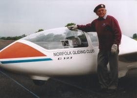 Jack Griffiths at the Norfolk Gliding Club, 2014.