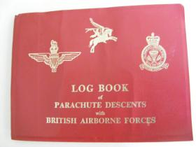 Parachute jump record book for Steve 'Yank' Thayer