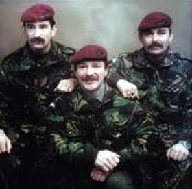 Tony Yarwood (centre) and his brothers taken in Belfast c 1990