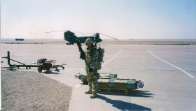 Para at Basrah Air Port of Disembarkation (APOD), Iraq, December 2003