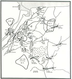 Map of 6th Airborne Division on D-Day.