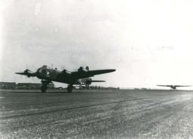 Stirling with Horsa glider in tow taking off for Normandy.