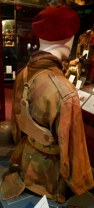 Reverse of MRC Body Armour Used by Sgt JW denning