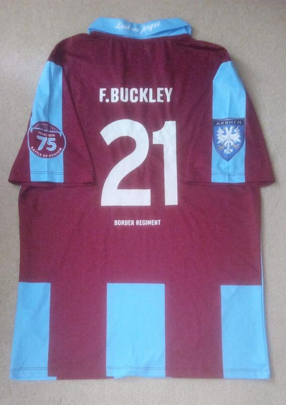 Arnhem Football Shirt made in Memory of Pte Frank Buckley