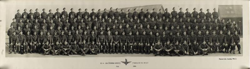 Group Photograph of 12th Parachute Battalion, February 1944 (Short Image)