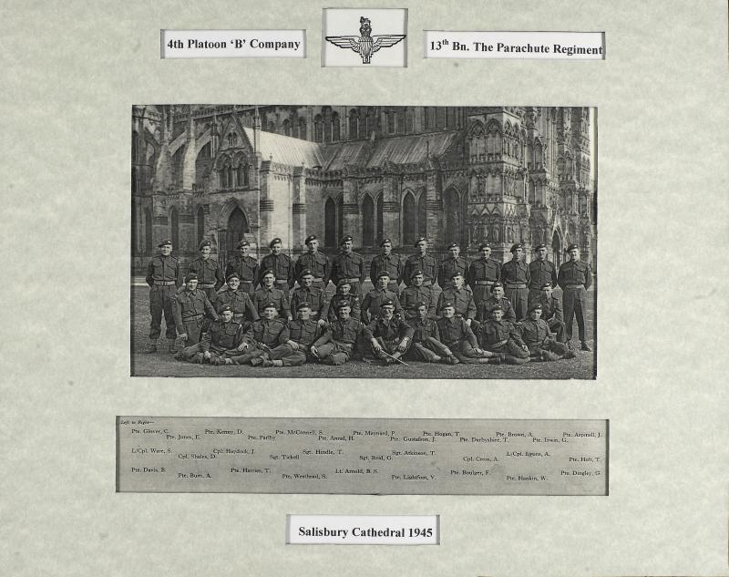 Group Photograph of 4 Platoon, B Company 13th Parachute Battalion