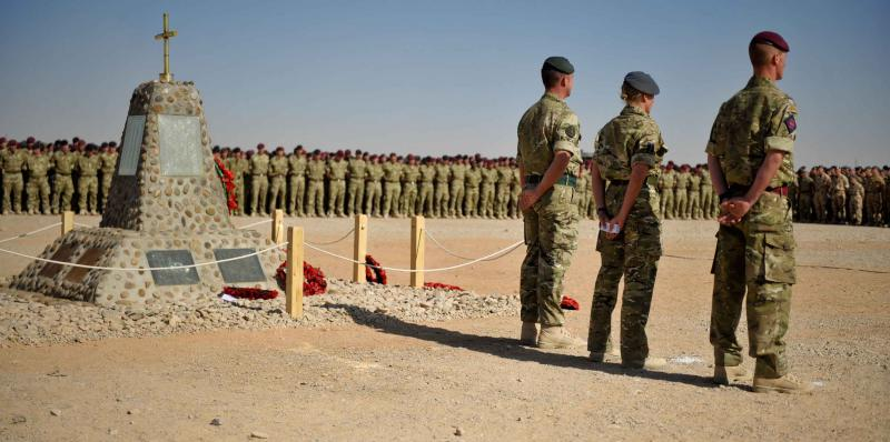 16 Air Assault Brigade on Remembrance Sunday, Afghanistan, 2010