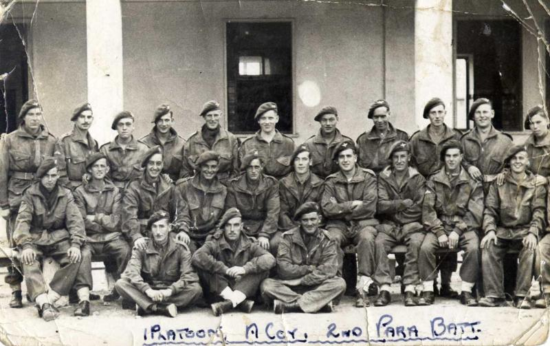 Group photo of 1st Platoon, A Company, 2 Para Bn taken at Barletta, Italy, 1943