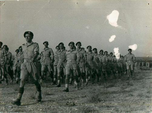 1st Airborne Division marching in North Africa.
