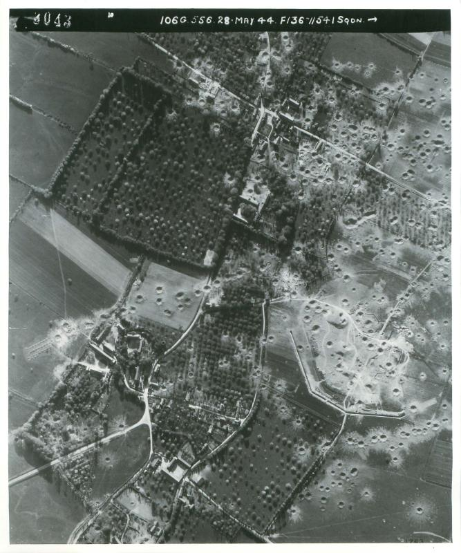 Aerial photos of Merville Battery.